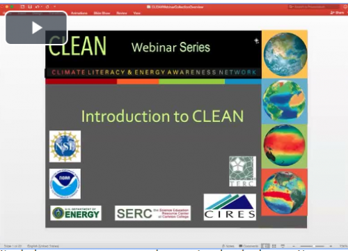 Screenshot of CLEAN Webinar