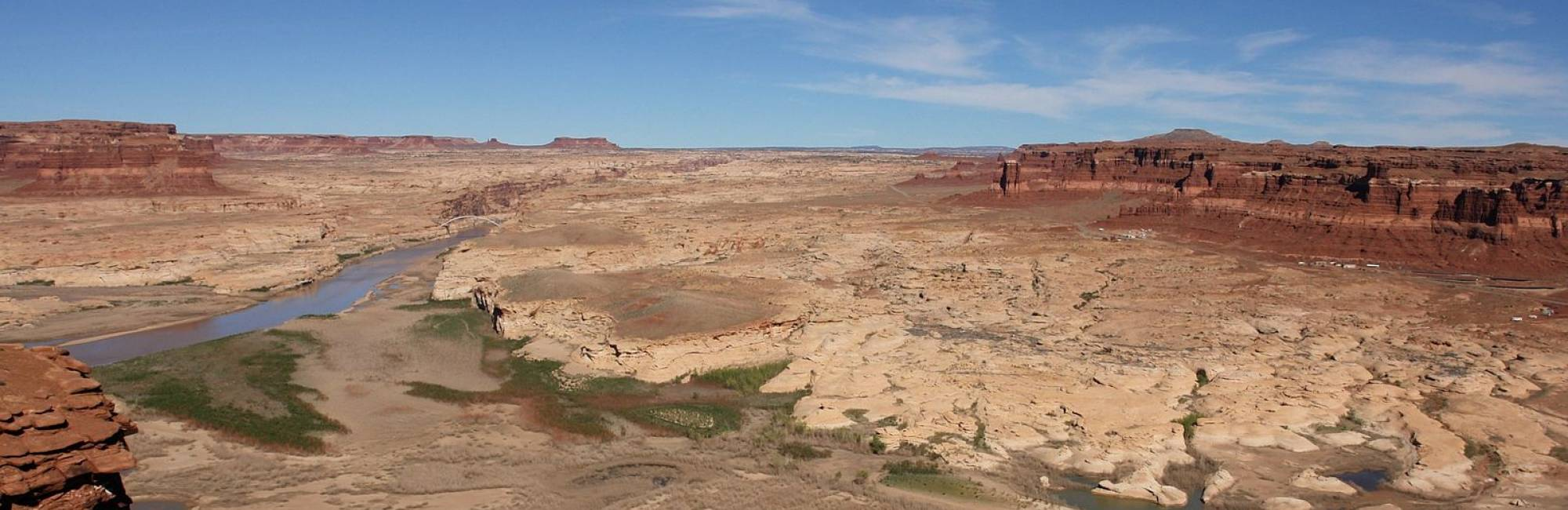 Dry river in a canyon