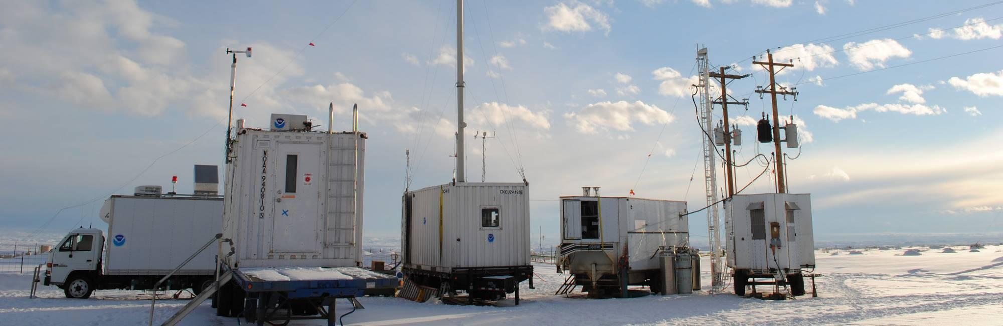 Measurement site in the Uintah Basin, Utah