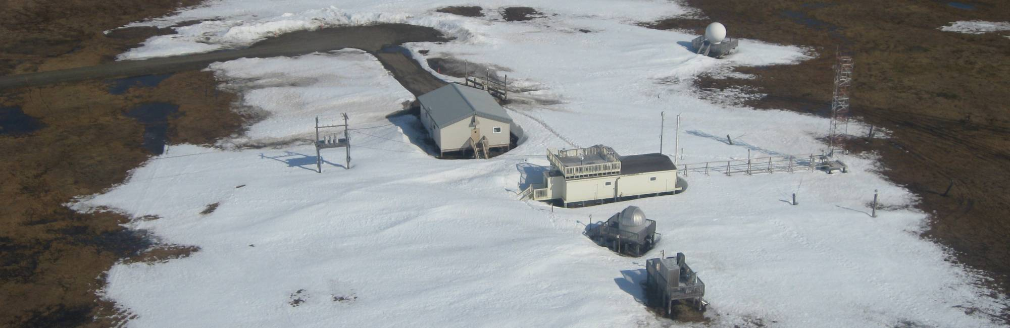 aerial view of the Barrow Arctic Ocean Observatory