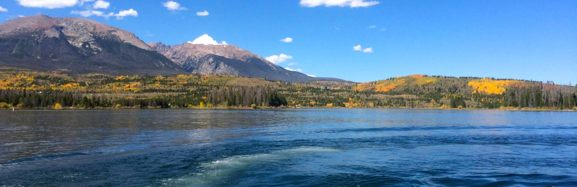 Sunny day at Lake Dillon.