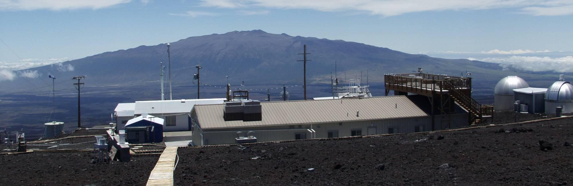 Photo of NOAA's Mauna Loa atmospheric baseline observatory, located at 11,000 feet elevation on Hawaii's tallest mountain.