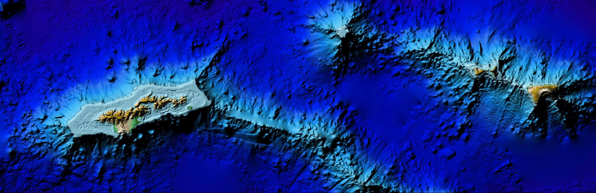 Digital elevation map of American Samoa