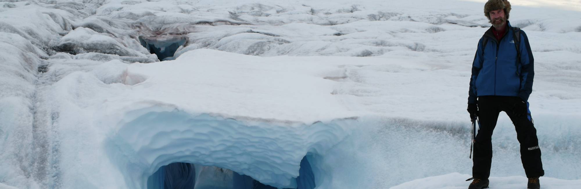 on the Greenland Ice Sheet near Swiss Camp. CIRES photo