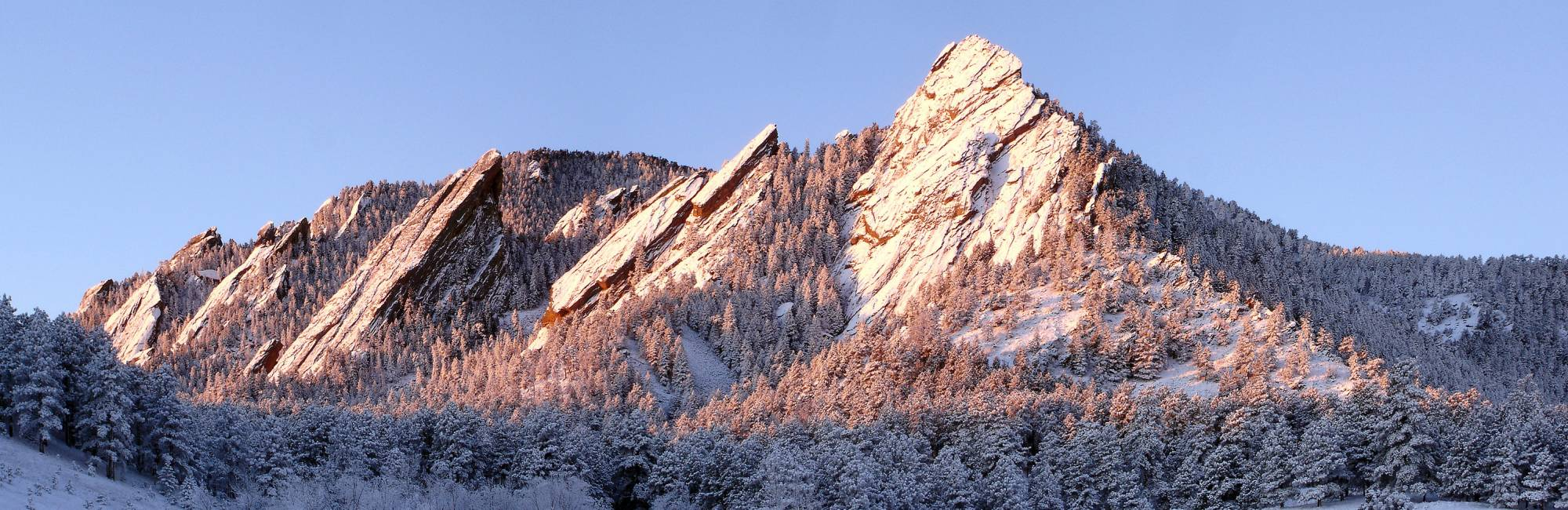 Flatirons touched with snow