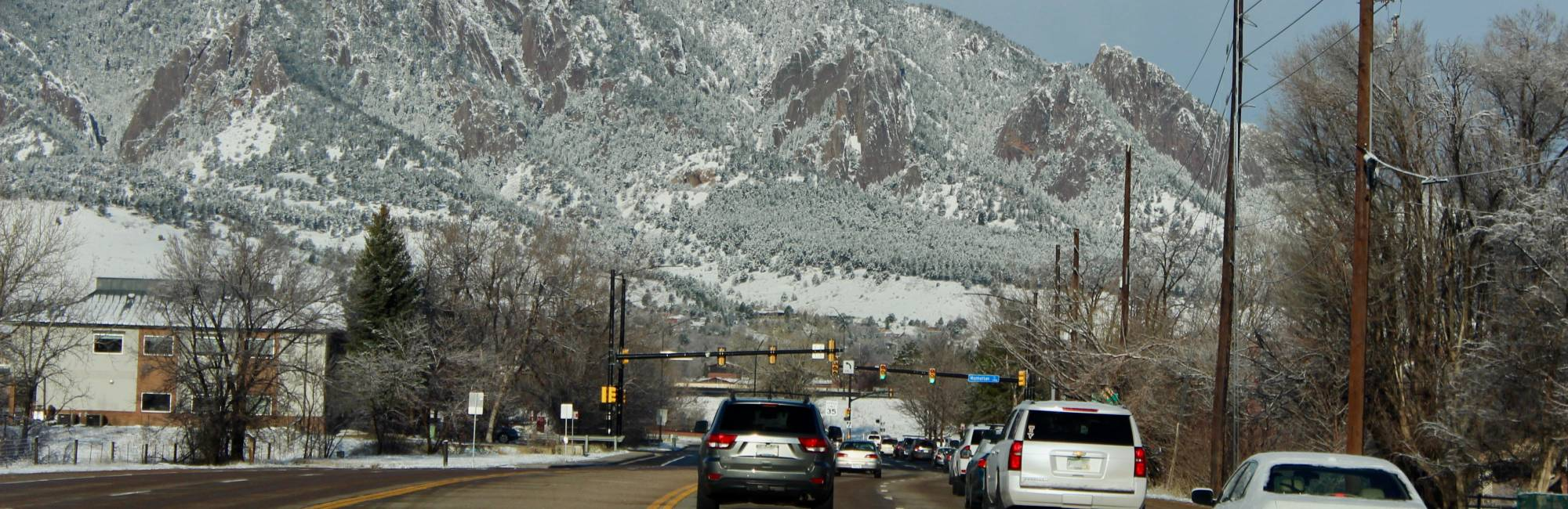 traffic on Broadway in Boulder, Colorado