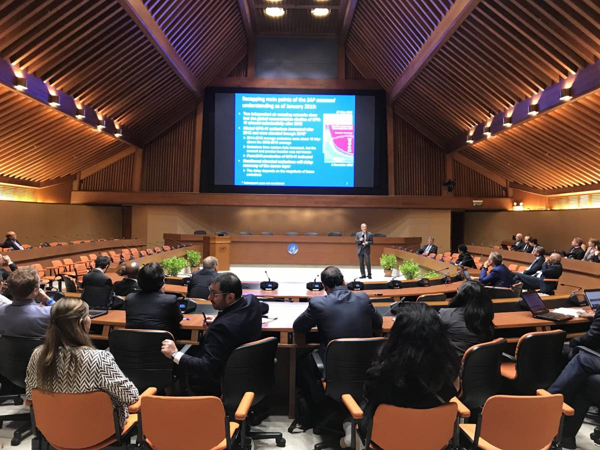 At the 41st Open-Ended Working Group of the Parties to the Montreal Protocol in Bangkok, Thailand in July, 2019, Stephen Montzka described how the observational evidence obtained by the NOAA and CIRES team suggests a violation of the Montreal Protocol.