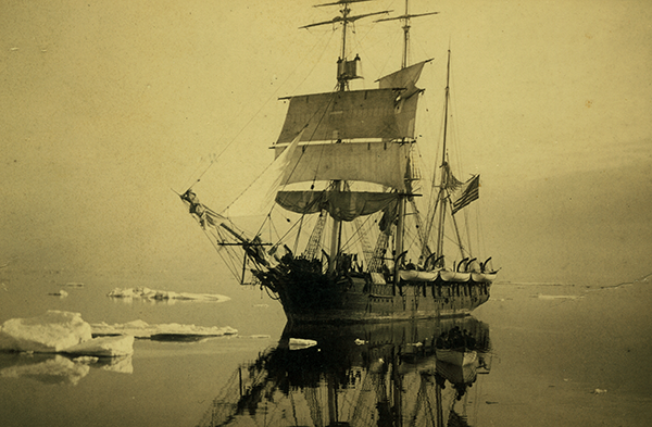 Arctic whaling ship. Credit: New Bedford Whaling Museum