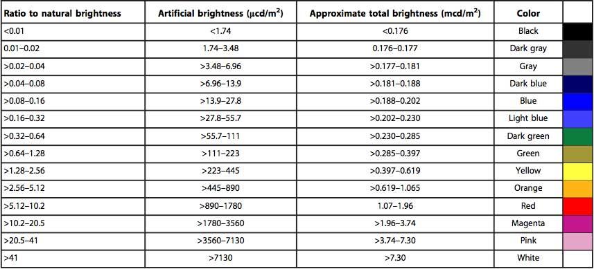 The New World Atlas of Artificial Sky Brightness | CIRES