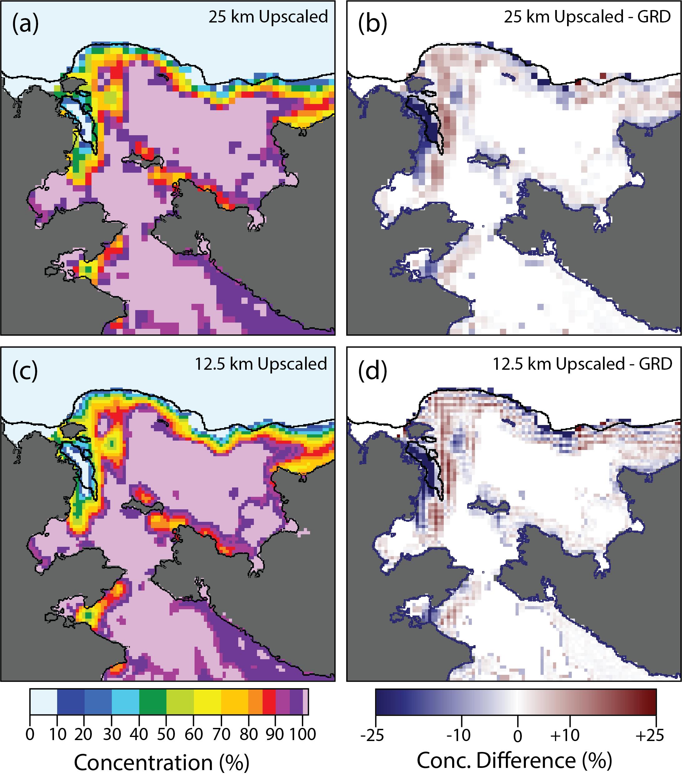 Enhanced sea ice concentration