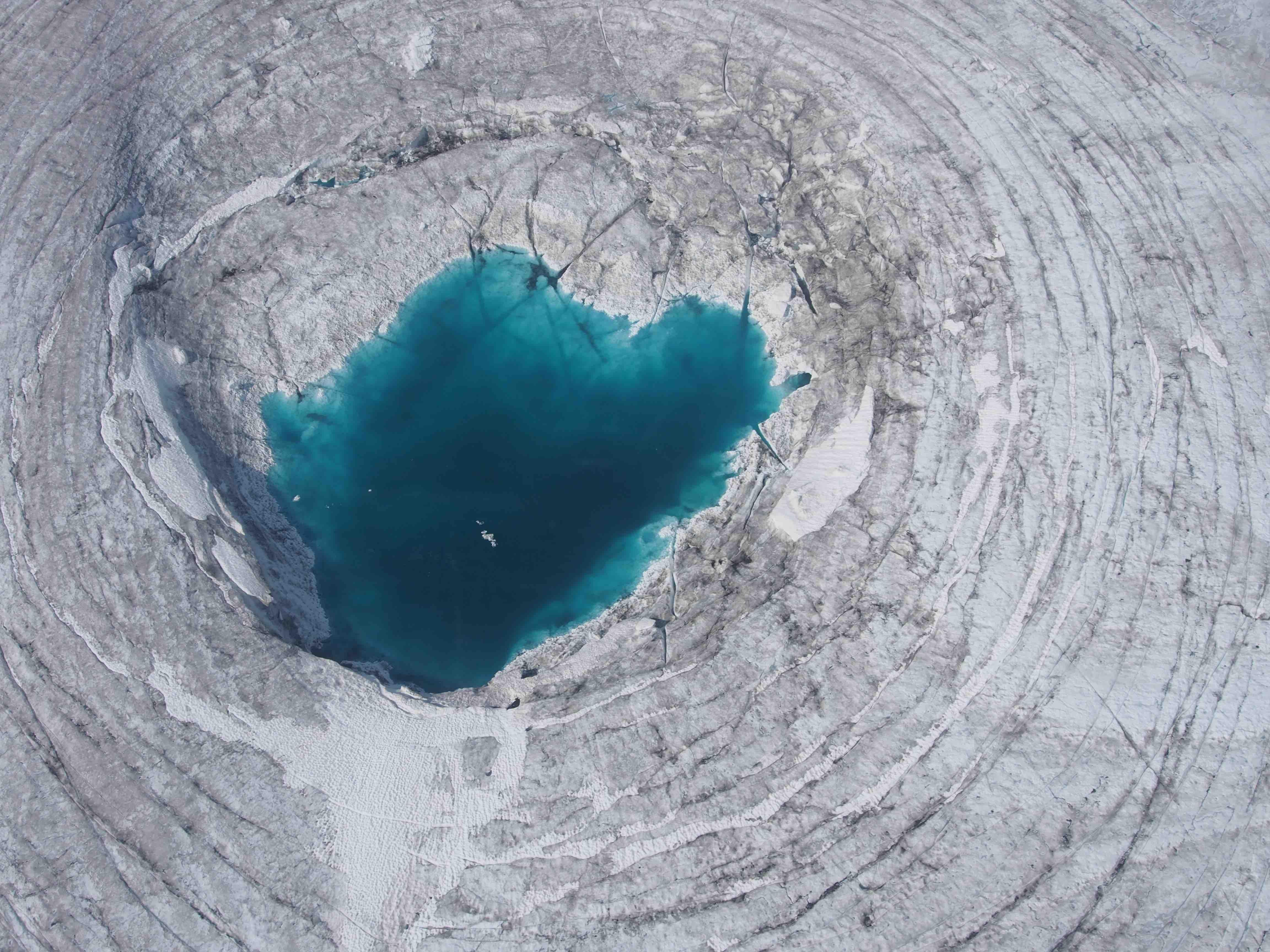 Melt lake, Juneau Icefield, Alaska