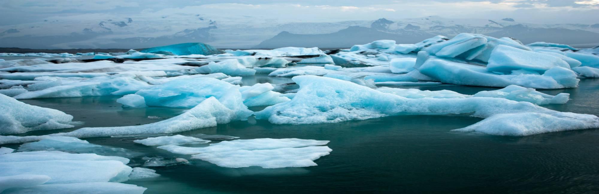 sea of glaciers