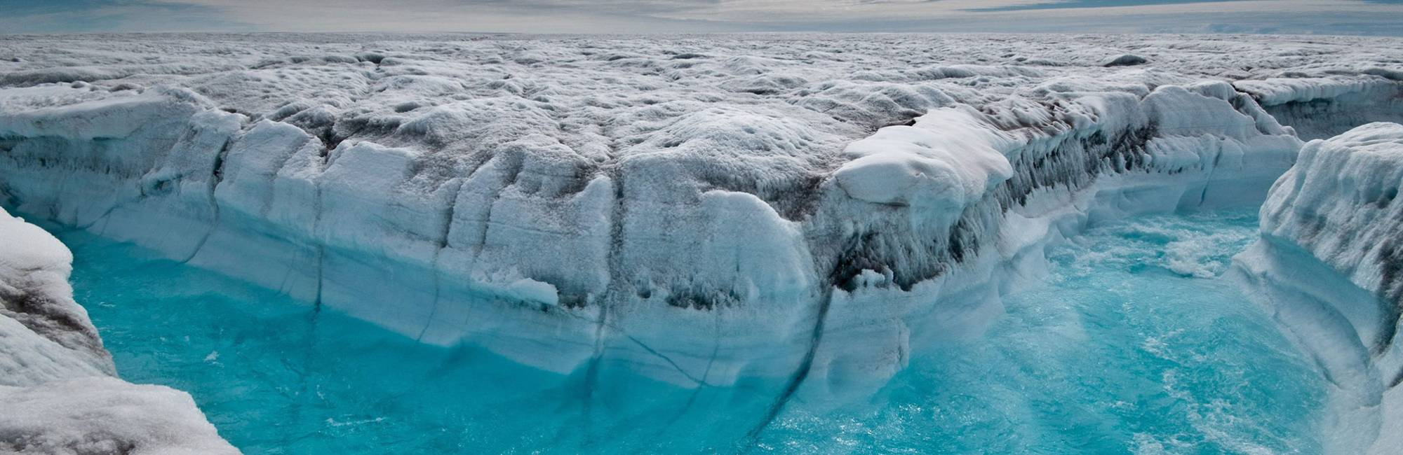 Tributary formed within a melting glacier