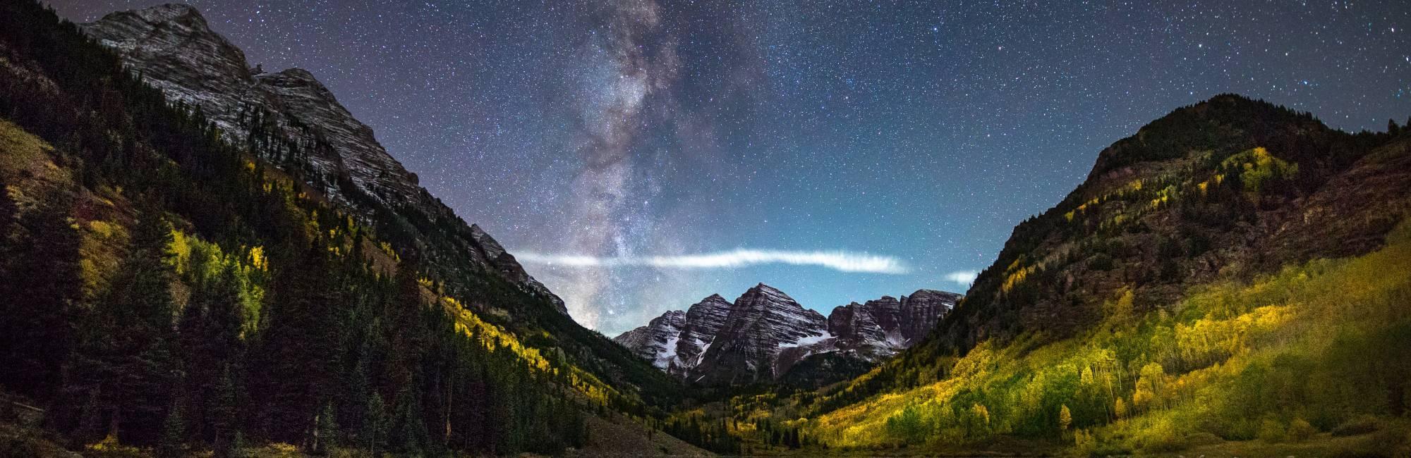 Milky Way over Maroon Bells.