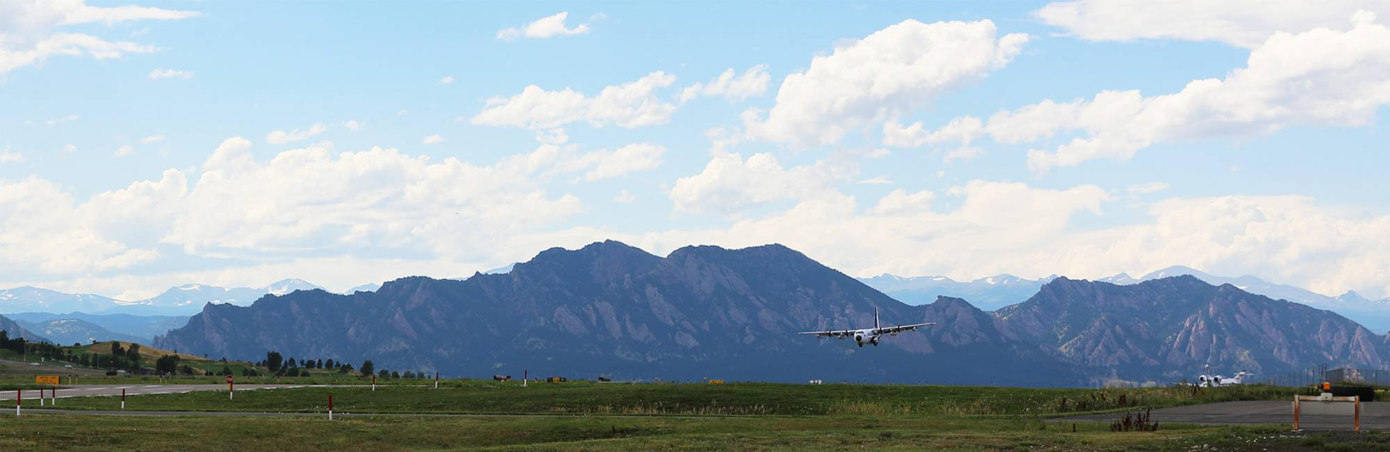 C130 Landing at the Rocky Mountain Regional Airport.