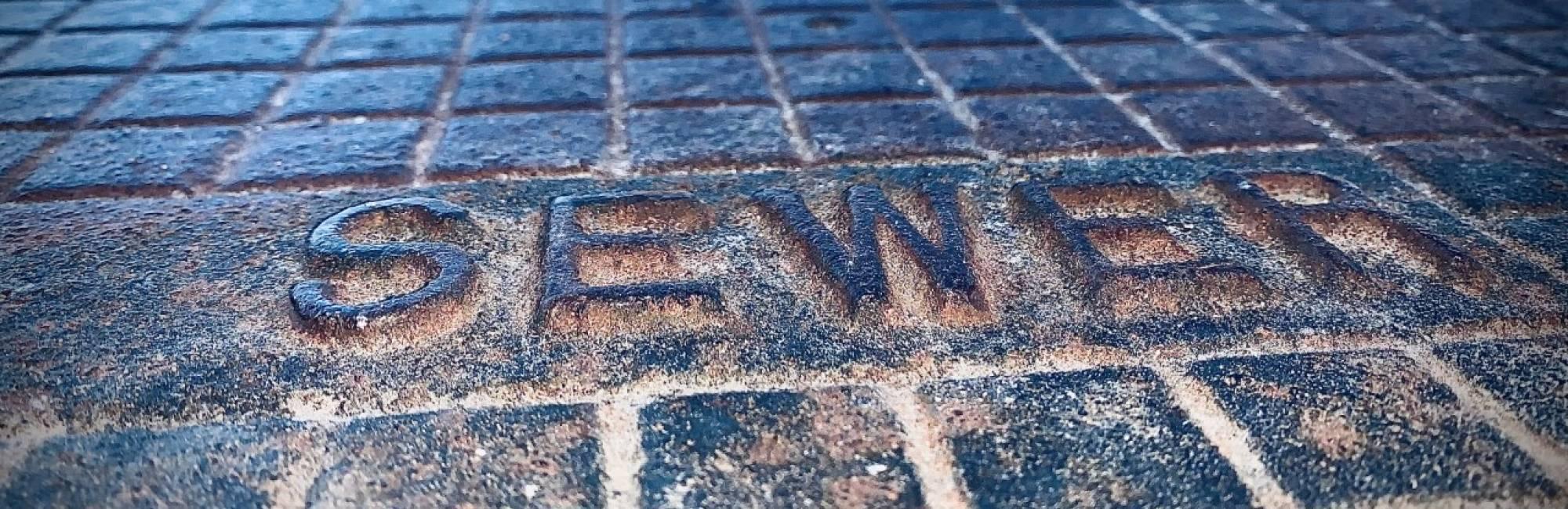 manhole cover closeup