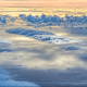 Photo of marine clouds taken from the NASA DC-8 research aircraft.