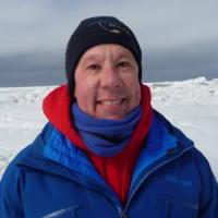 Walt Meier in the Chukchi Sea near Utqiagvik, AK