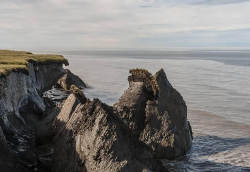 Coastal erosion in Alaska's North Slope
