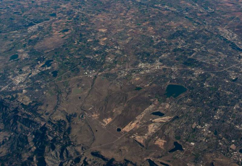Aerial view of Colorado's northern Front Range