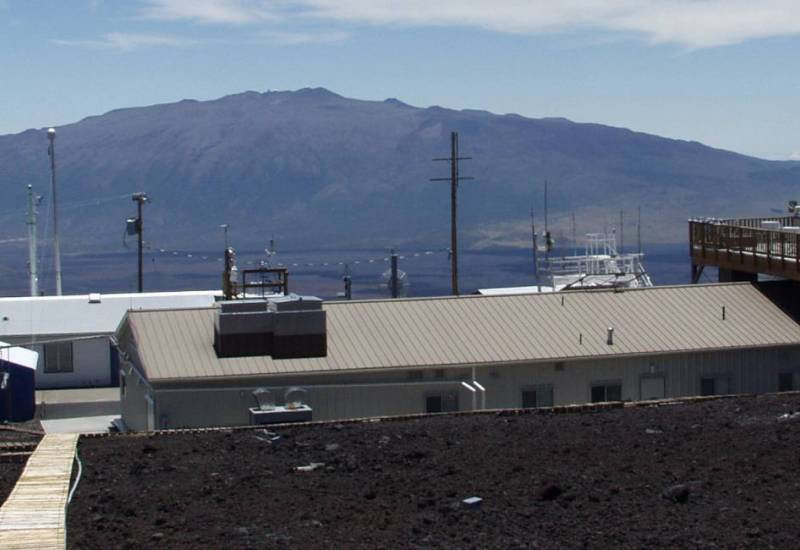 panoramic view of NOAA's Mauna Loa Observatory