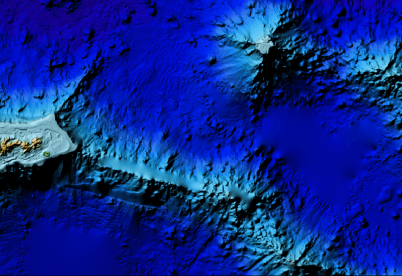 Digital elevation map of American Samoa