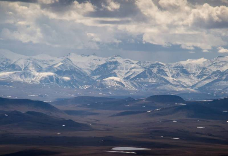 The foothills on the North Slope of Alaska.