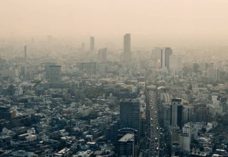 Poor air quality in Tokyo, Japan in 2009. Since then ozone levels have improved, according to a new global assessment.